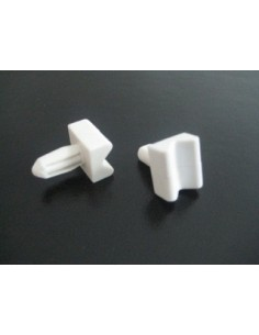 Plastic door slides Top or Bottom - Top slide with circle Pack Of 2